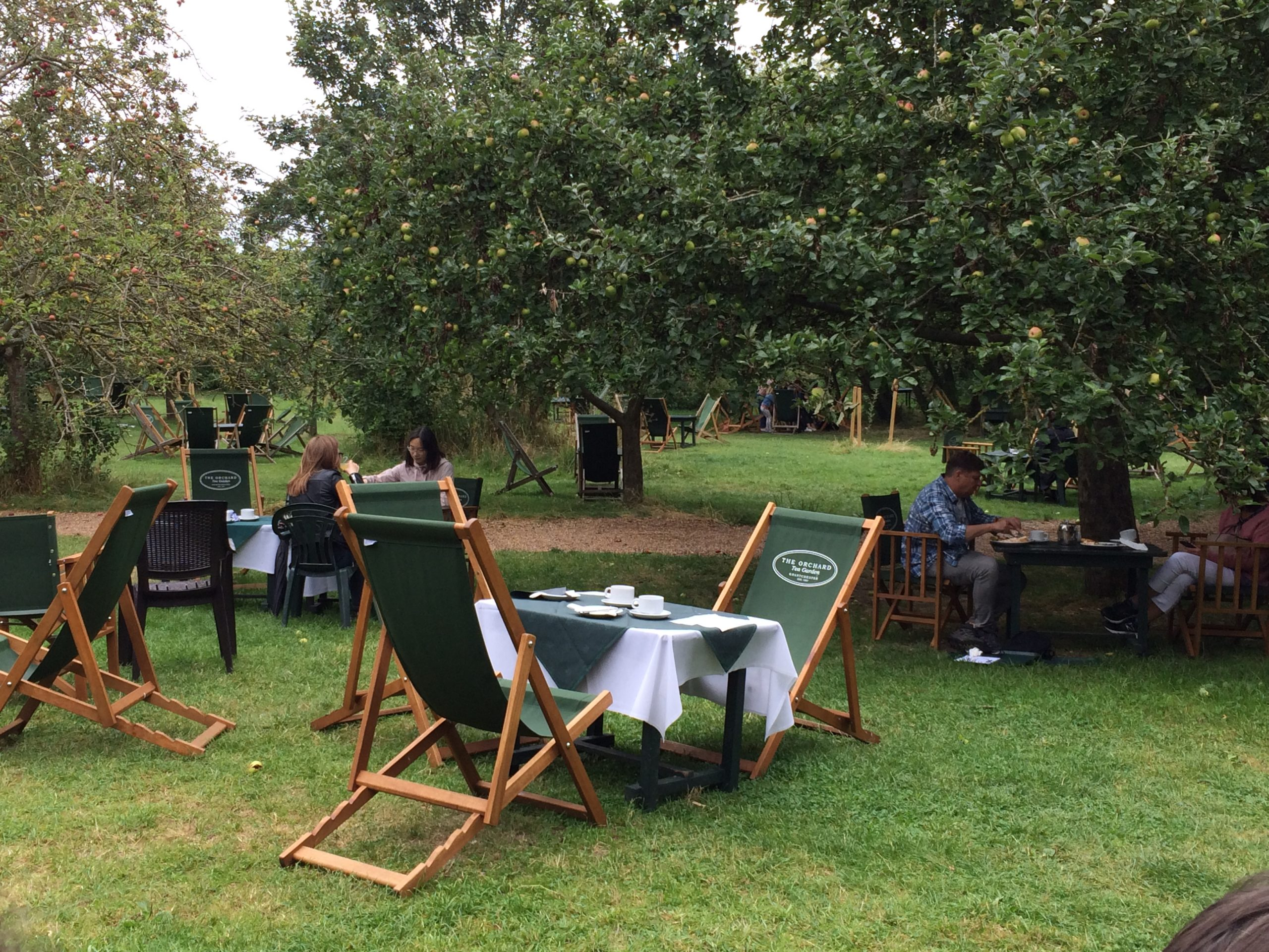 The quintessentially British Tea Garden in Granchester